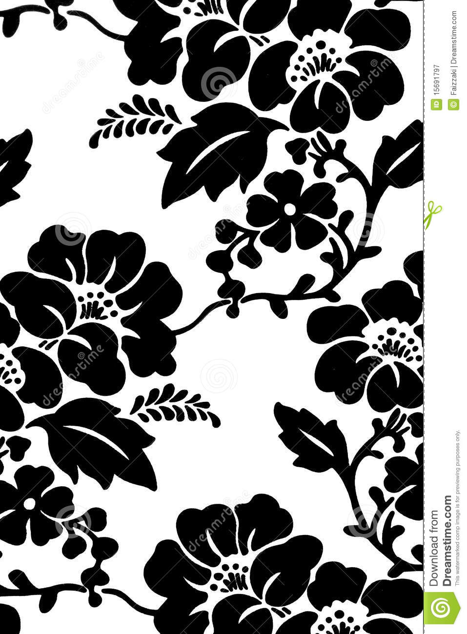 Hibiscus flower in black white stock illustration illustration hibiscus flower in black white izmirmasajfo