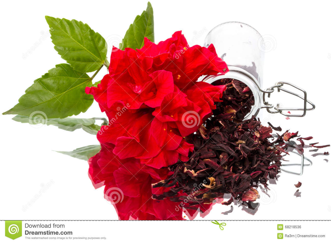 Hibiscus Flower And Dry Tea Stock Photo Image Of Food Background
