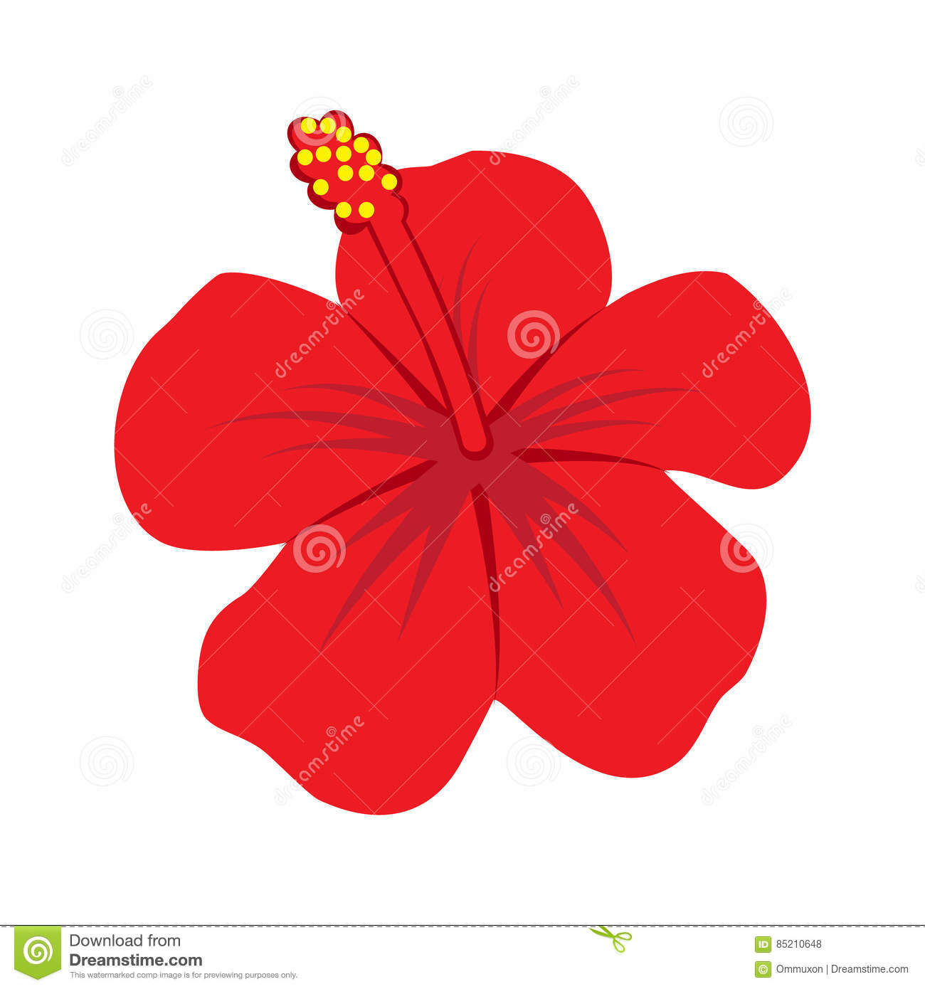 Hibiscus Flower Icon Illustration Stock Vector Illustration Of
