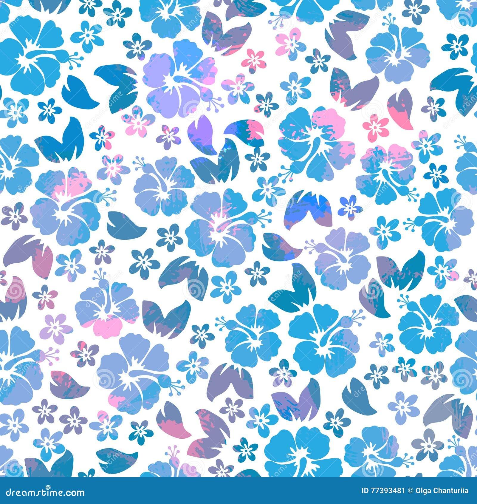 3eb25bea5ca5 Hibiscus Flowers Seamless Pattern. Hawaiian Aloha Shirt Seamless ...