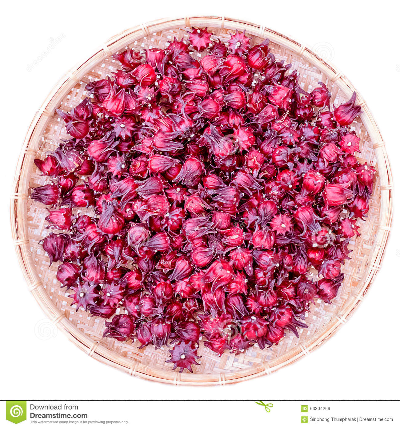 Dried And Fresh Sorrel On White Stock Image