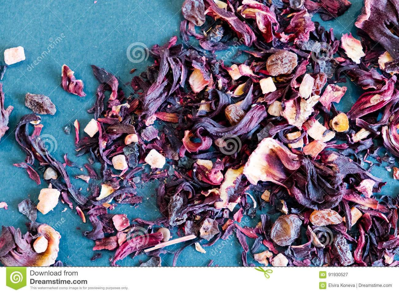 Hibiscus tea petals and dry tea custard copy space the composition hibiscus tea petals and dry tea custard copy space the composition of the heap of tea roses and dried hibiscus flower izmirmasajfo Images