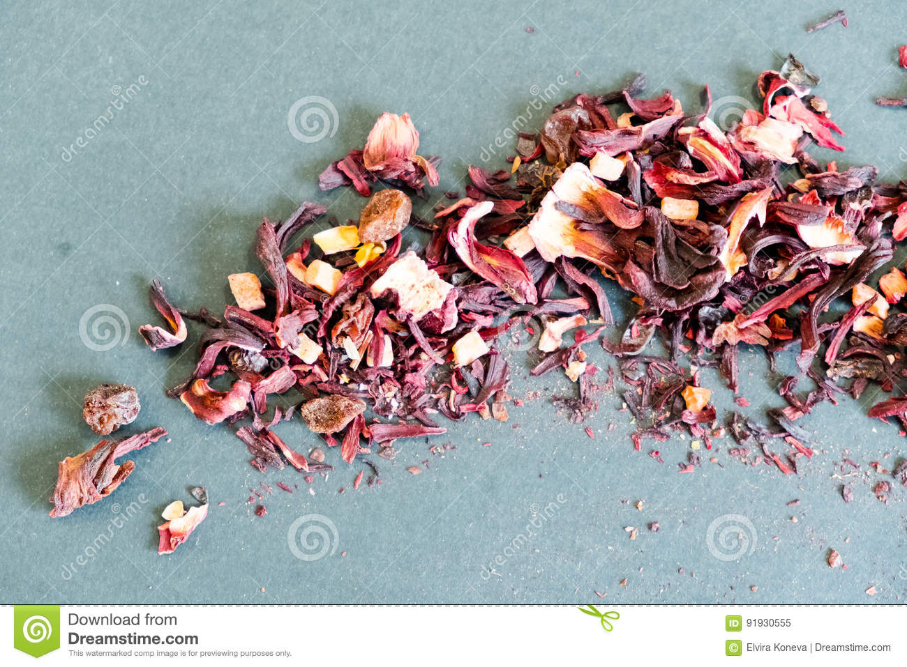 Hibiscus tea petals and dry tea custard copy space the composition hibiscus tea petals and dry tea custard copy space the composition of the heap of tea roses and dried hibiscus flower karkade background izmirmasajfo Images
