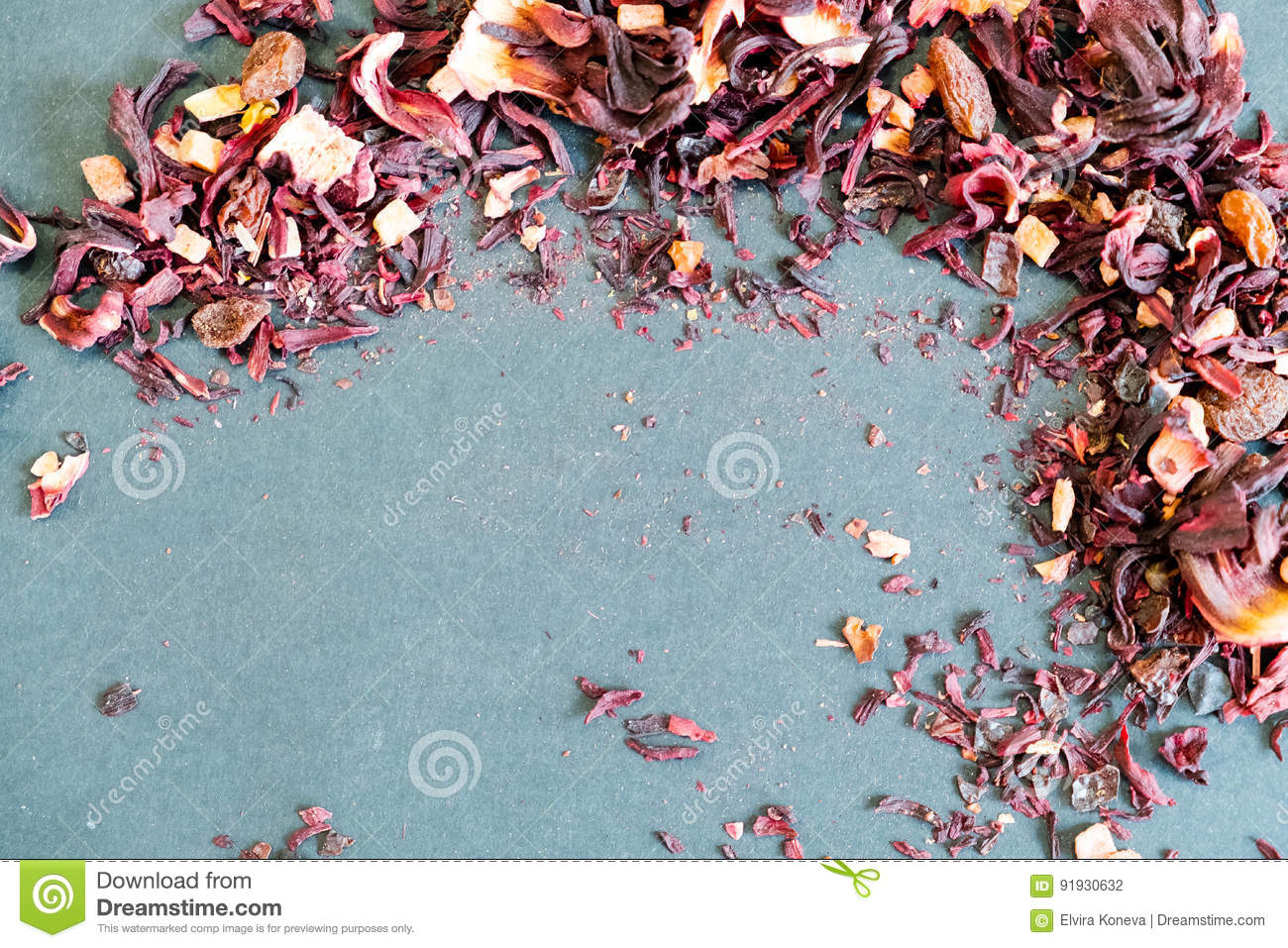 Hibiscus tea petals and dry tea custard copy space the composition hibiscus tea petals and dry tea custard copy space the composition of the heap of tea roses and dried hibiscus flower freshness morning izmirmasajfo Images