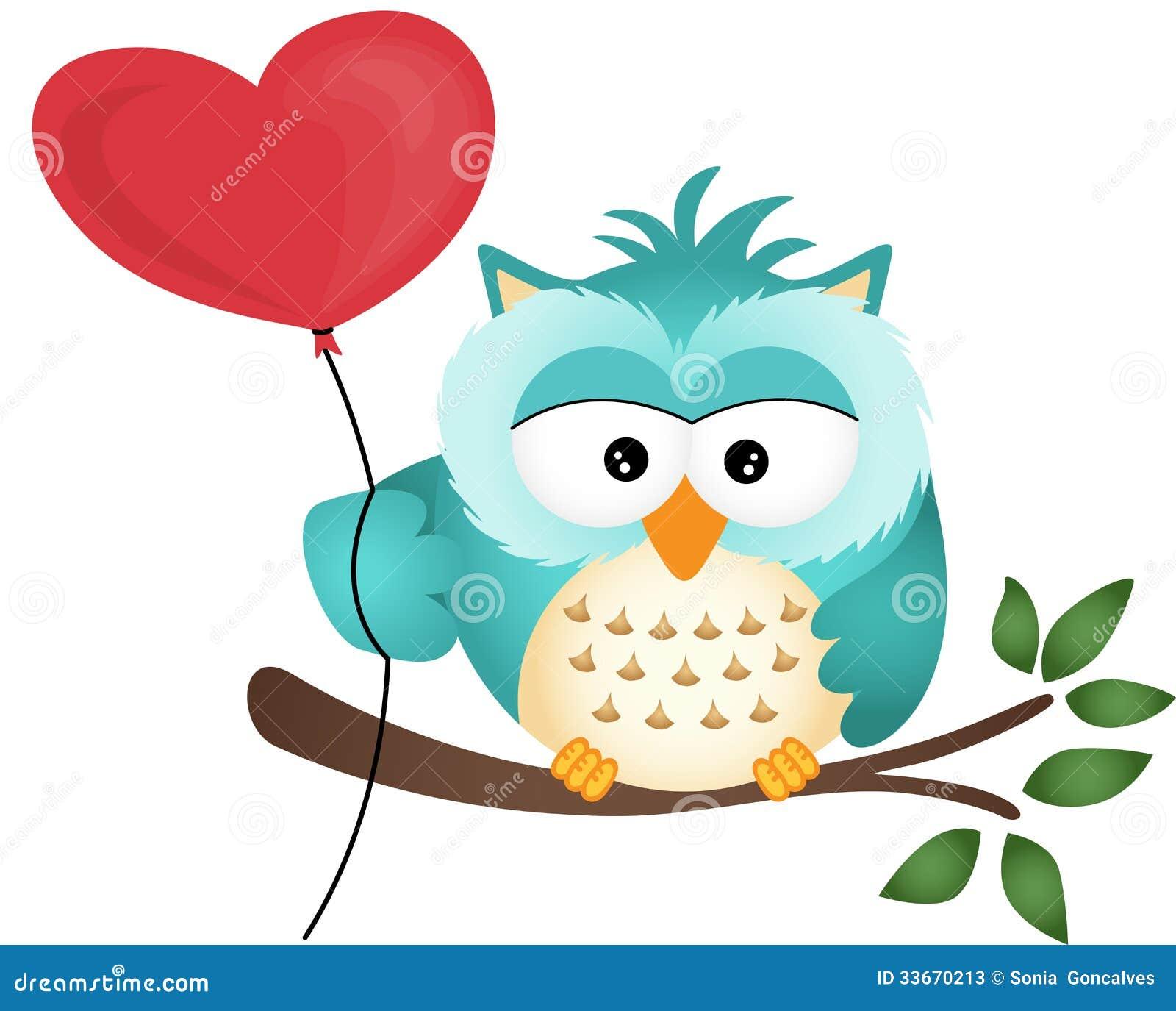 Hibou avec le ballon de coeur illustration de vecteur illustration du invitation coeur 33670213 - Coeur avec des photos ...