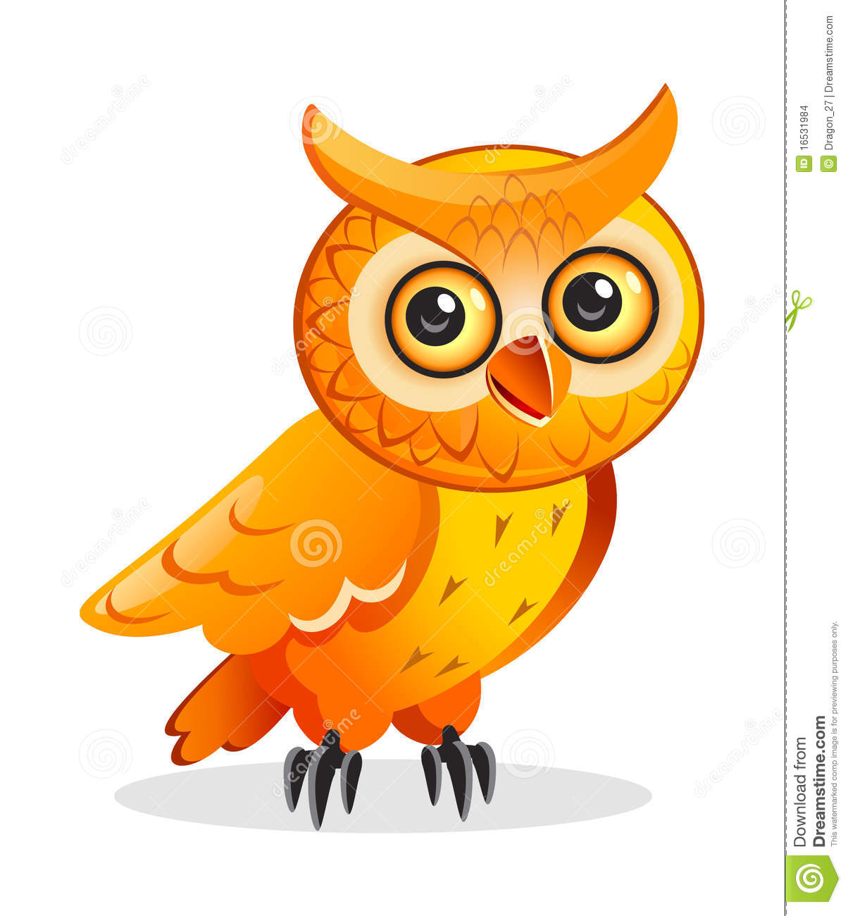 Hibou de dessin anim illustration de vecteur - Dessins hibou ...