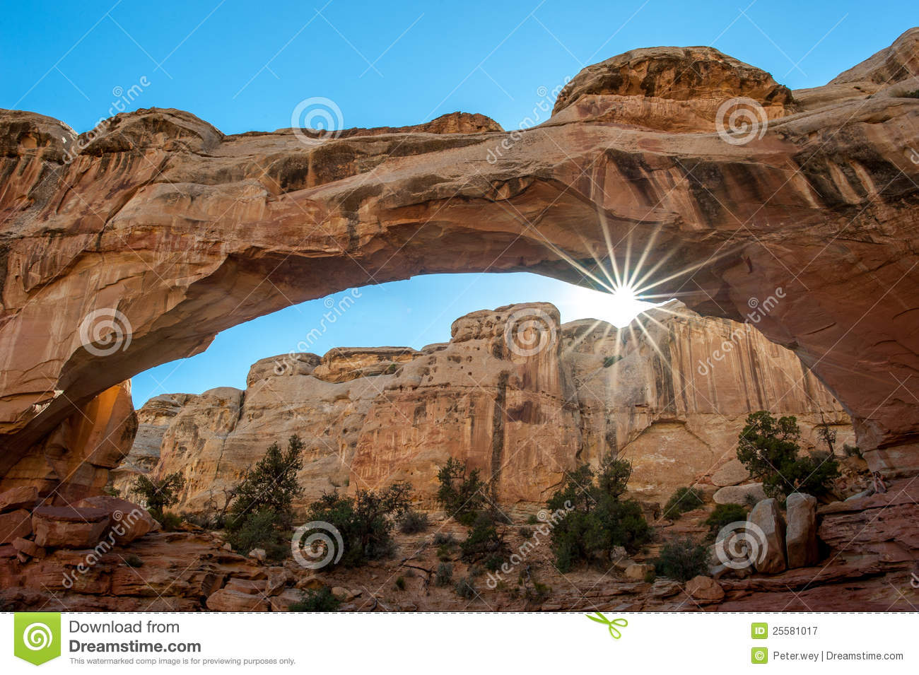 Royalty Free Stock Photography: Hickman Bridge, Capitol Reef National ...