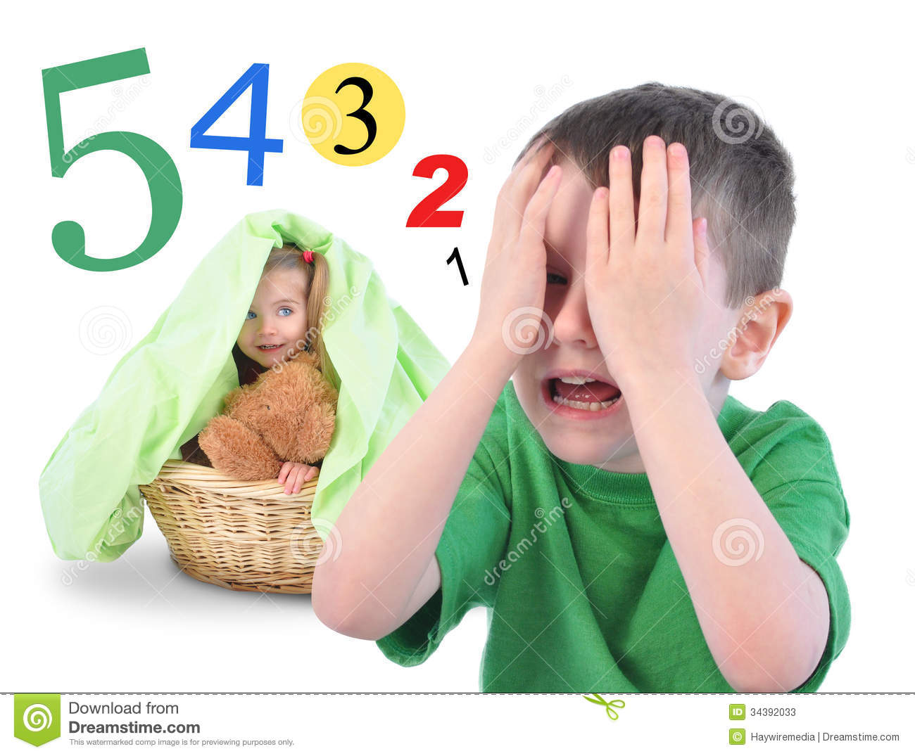 hide and go seek numbers game on white stock image image of brother communicate 34392033. Black Bedroom Furniture Sets. Home Design Ideas