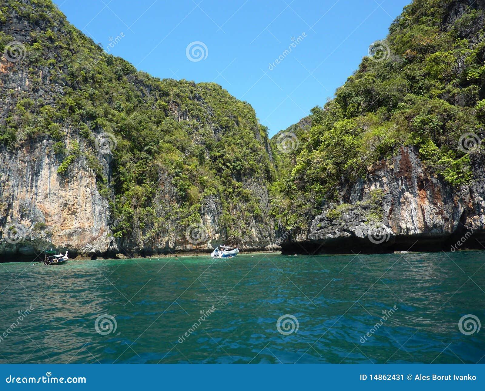 Hiden beach in Thailand
