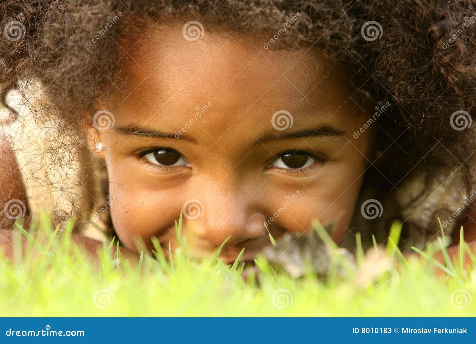 Hiding Child Stock Pho...