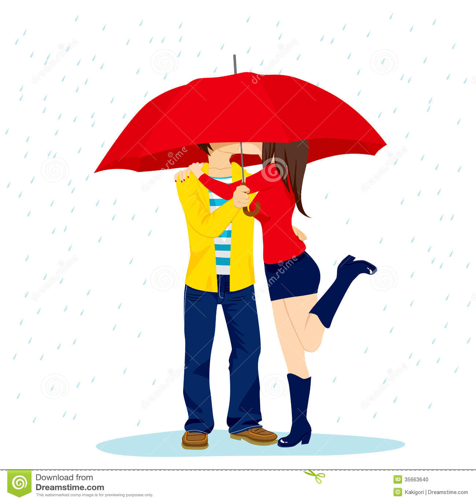 Clipart Rainy Day Umbrella