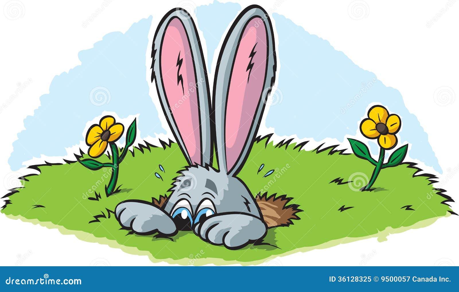 Rabbit burrow clipart - photo#9