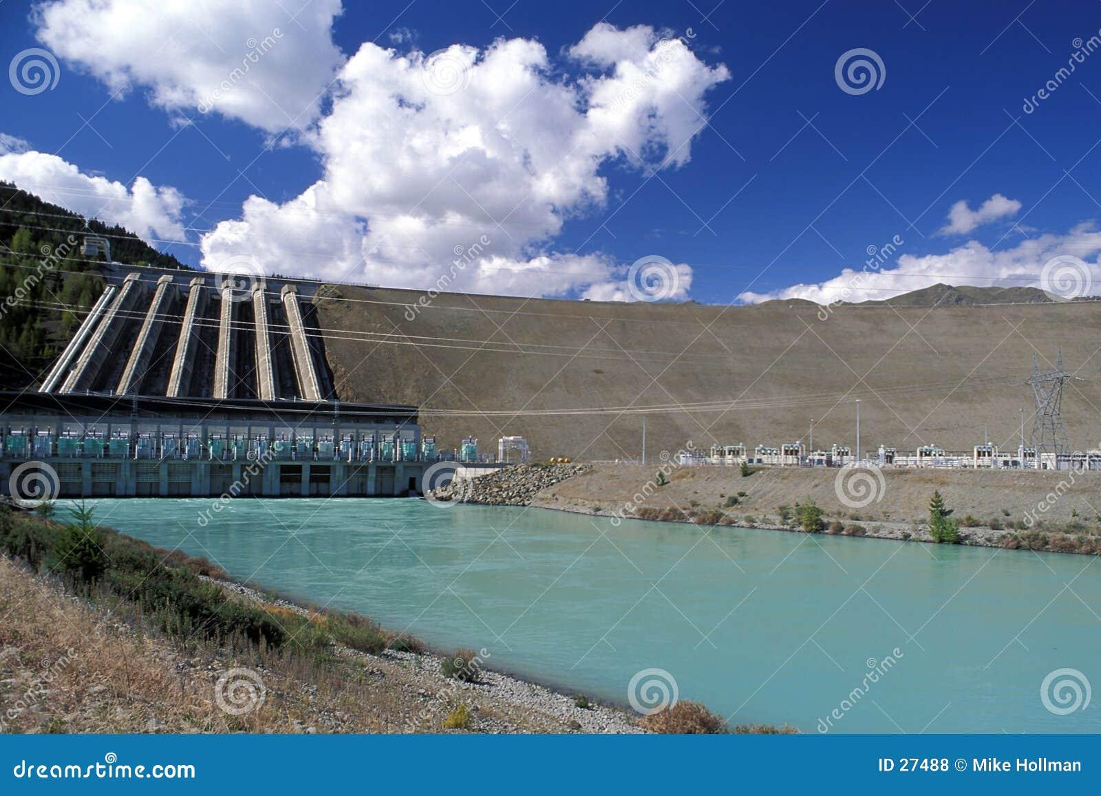Hidro represa, Nova Zelândia.