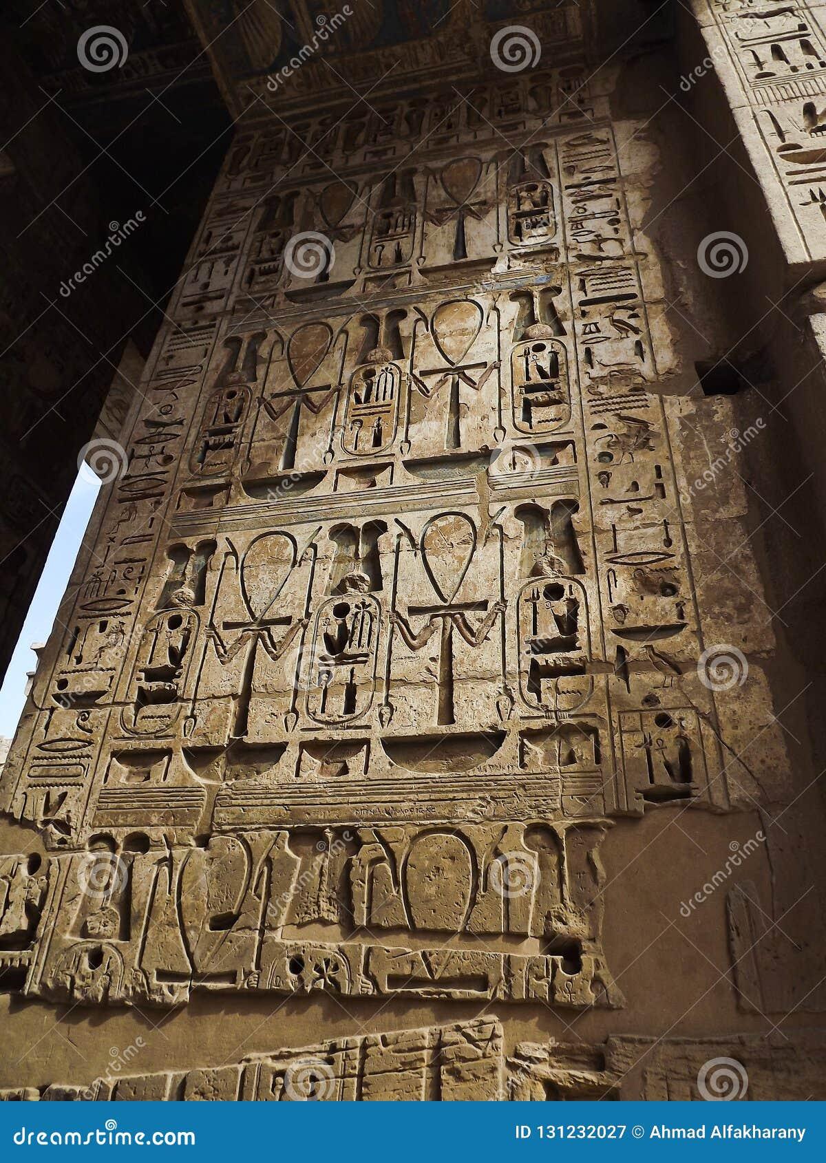 Hieróglifos antigos dos símbolos