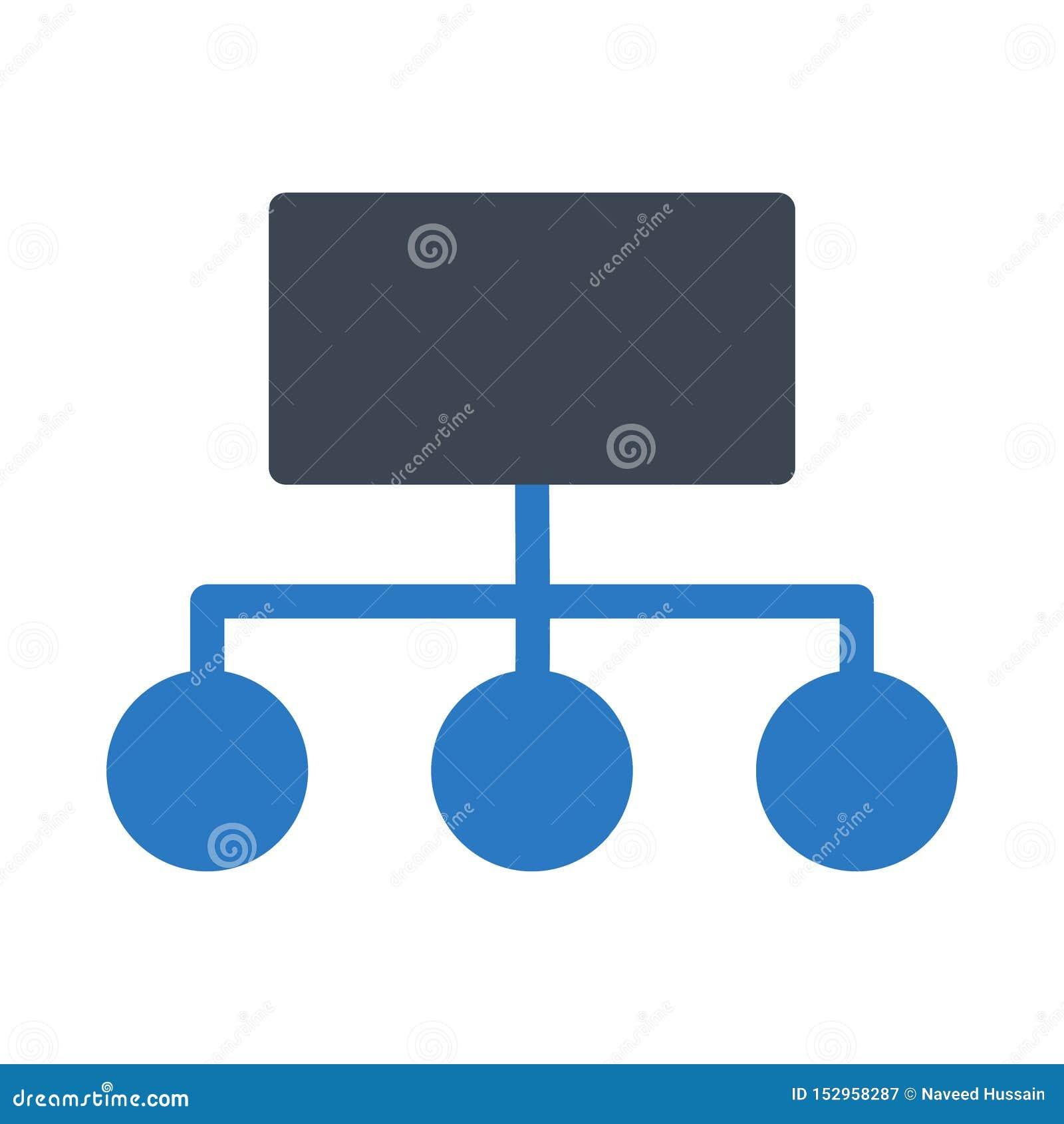 Hierarchia glifu colour wektoru ikona
