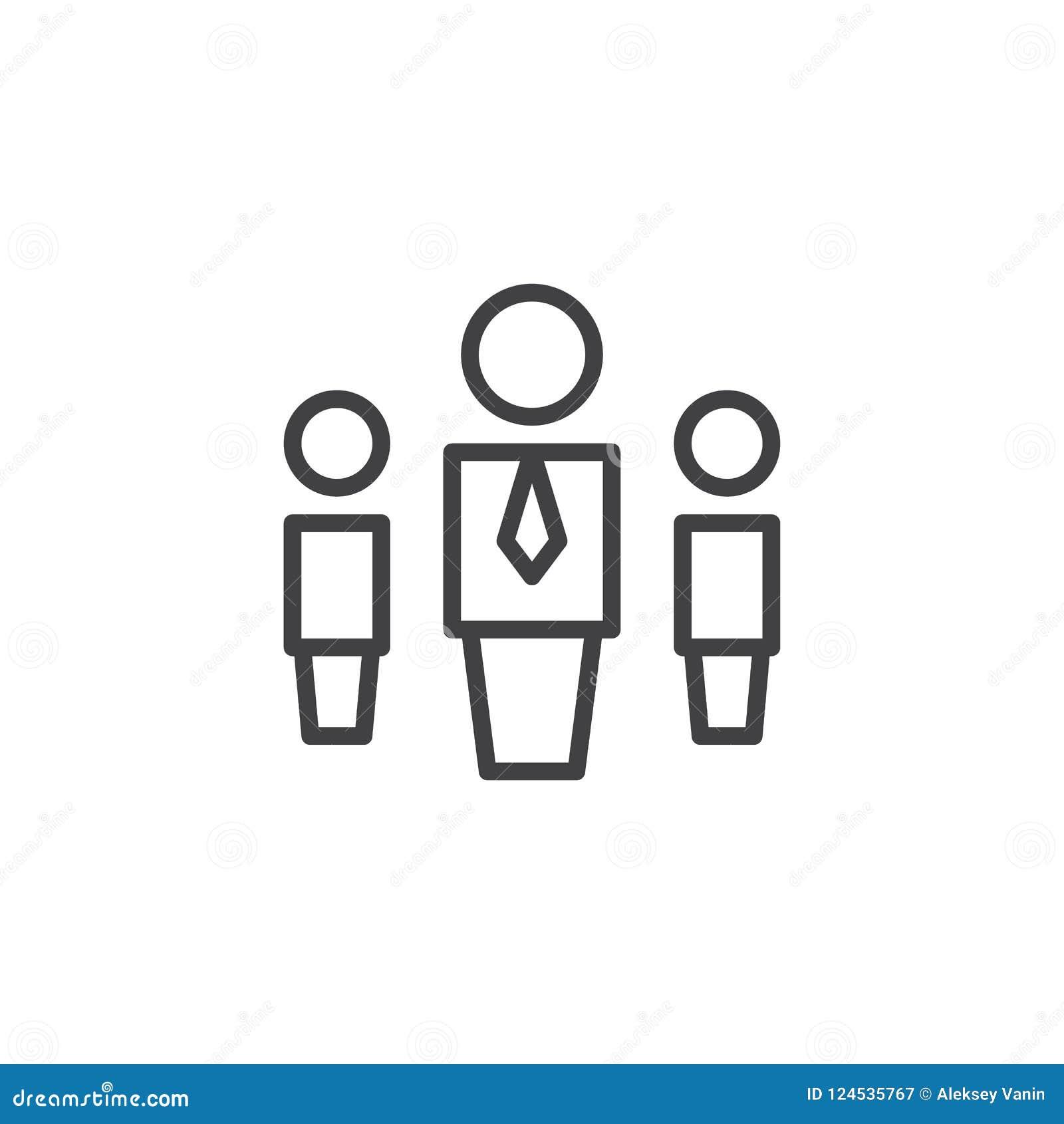 Hierarchia systemu konturu ikona