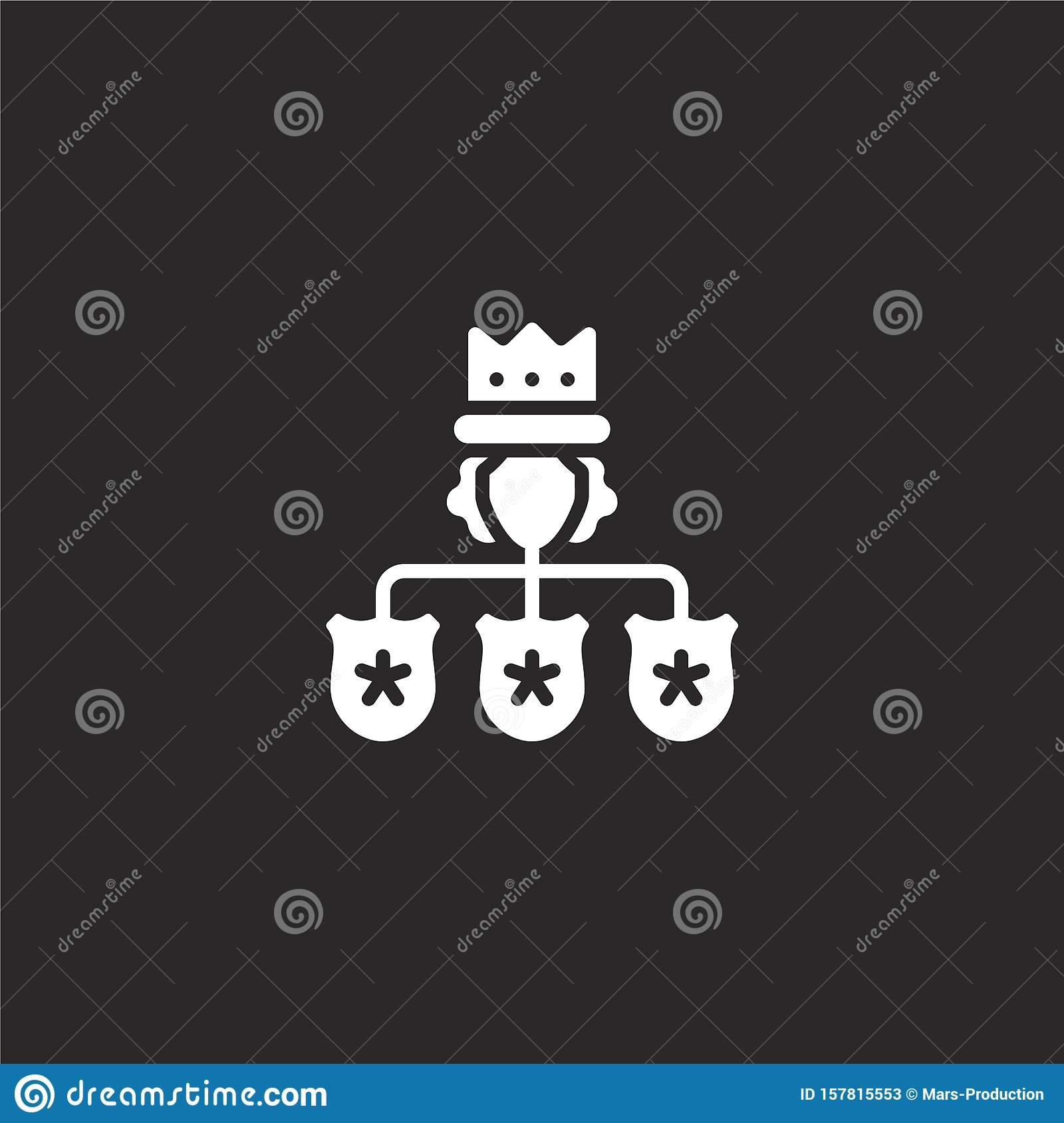 hierarchical structure icon. Filled hierarchical structure icon for website design and mobile, app development. hierarchical