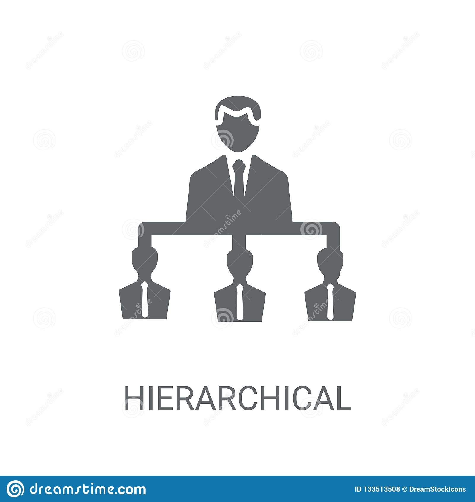 Hierarchical structure icon. Trendy Hierarchical structure logo