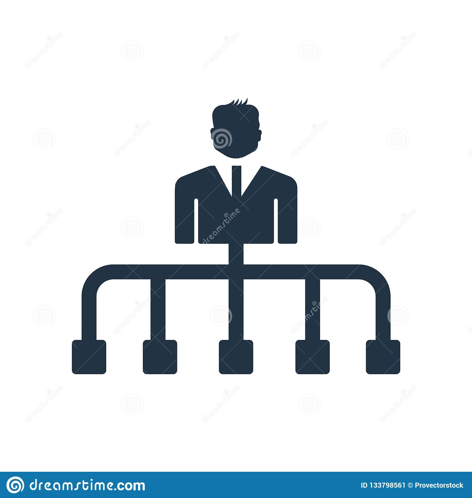 Hierarchical structure icon vector isolated on white background