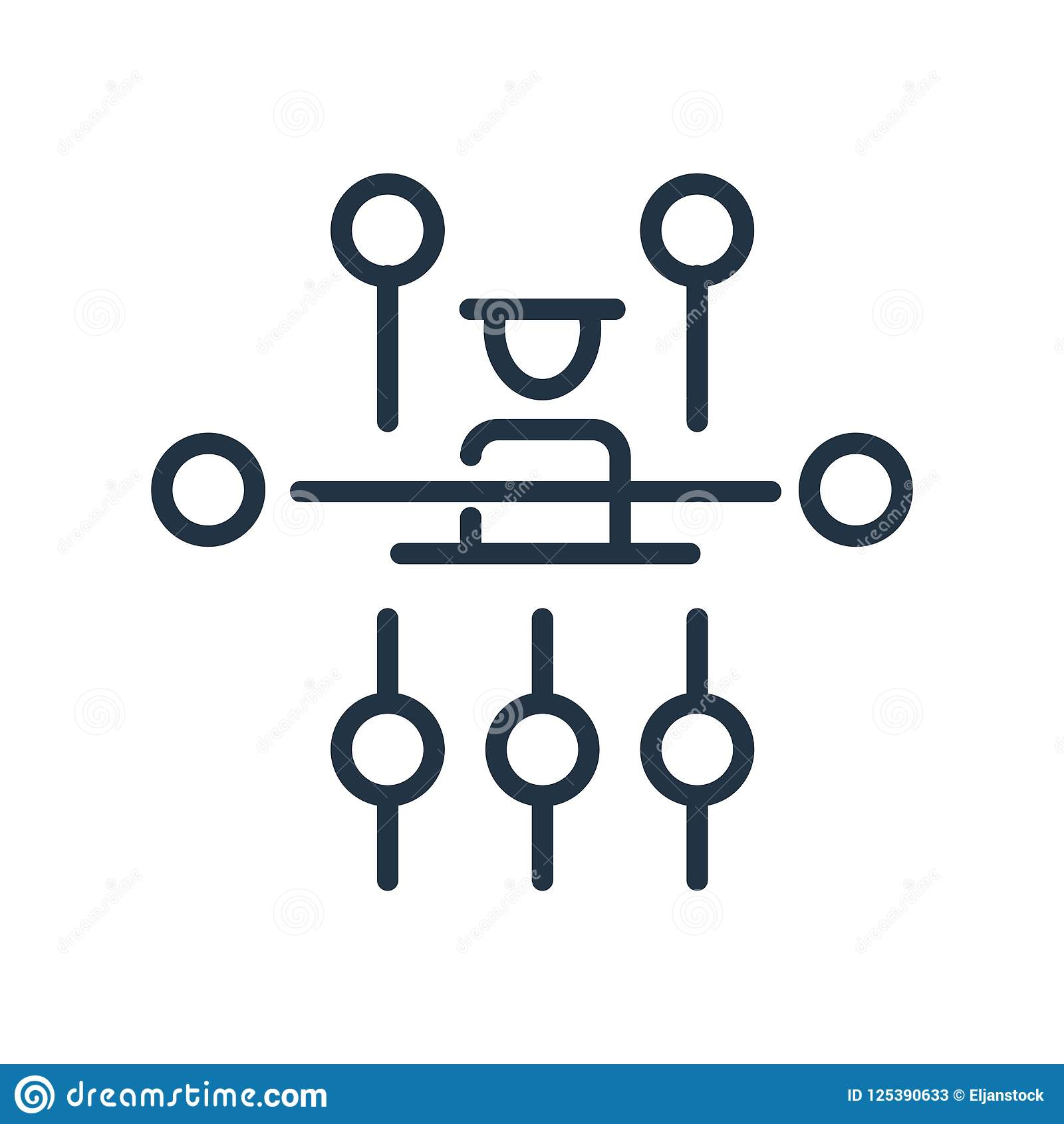 Hierarchical structure icon vector isolated on white background, Hierarchical structure sign , line symbol or linear element
