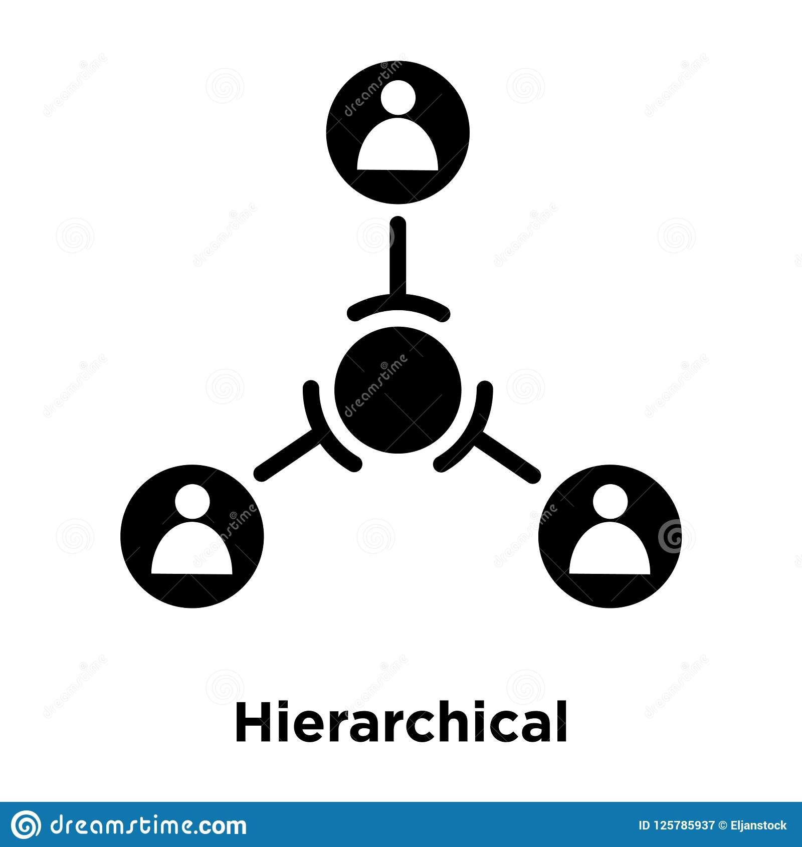 Hierarchical structure icon vector isolated on white background, logo concept of Hierarchical structure sign on transparent