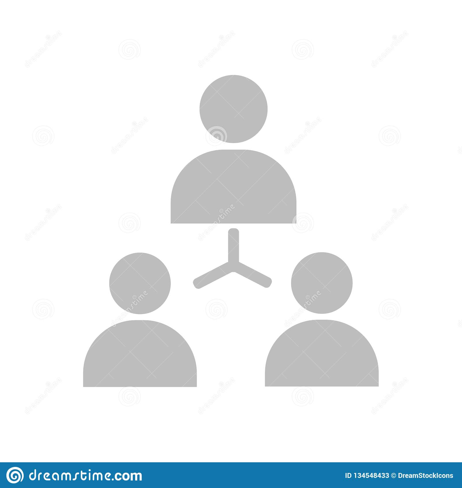 Hierarchical structure icon vector sign and symbol isolated on white background, Hierarchical structure logo concept