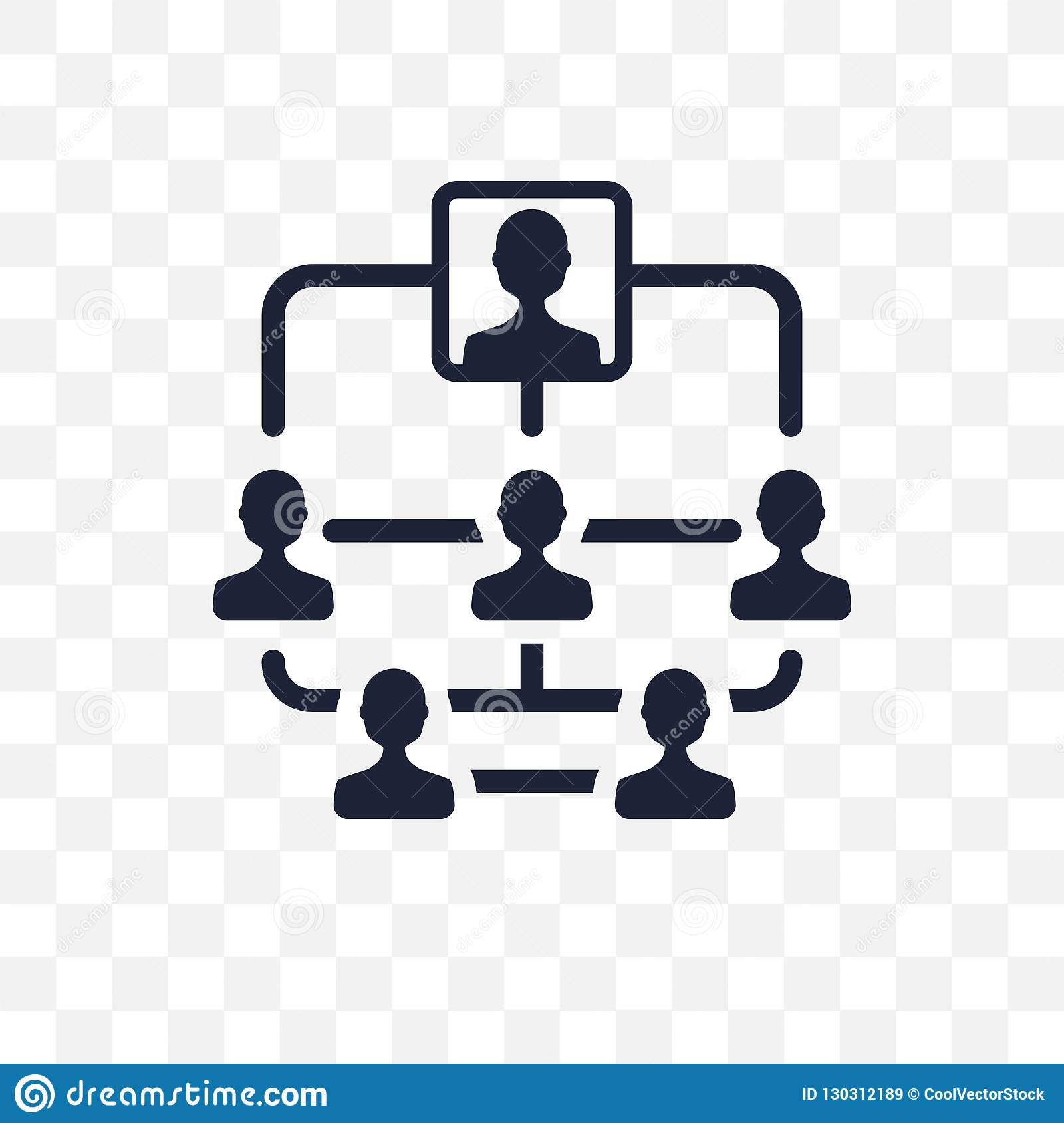 Hierarchical structure transparent icon. Hierarchical structure