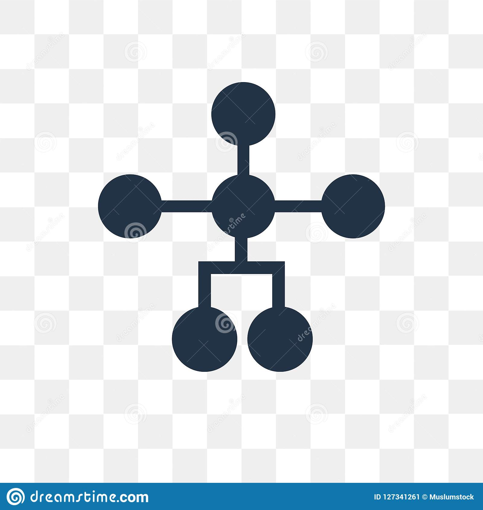 Hierarchical structure vector icon isolated on transparent background, Hierarchical structure transparency concept can be used w