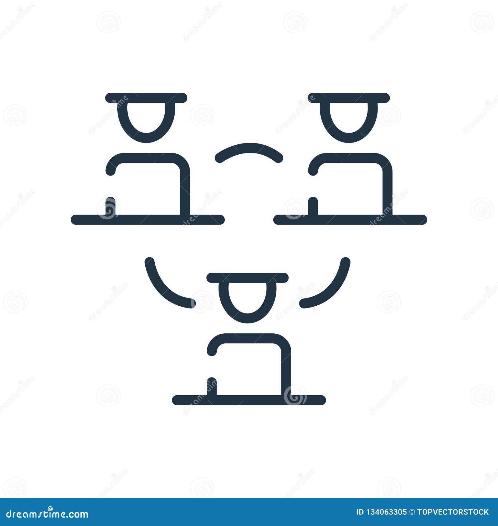 Hierarchical struktury ikony wektor odizolowywający na białym tle, Hierarchical struktury znaku, kreskowym symbolu lub liniowym e