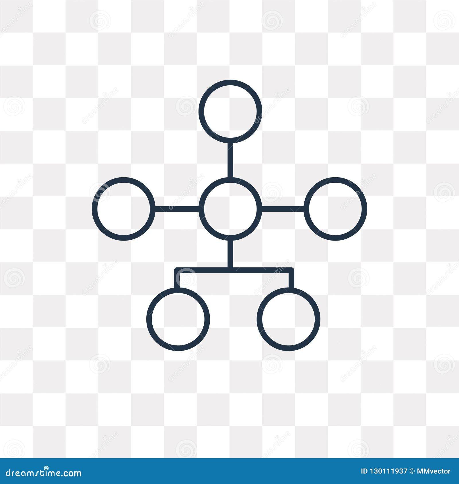 Hierarchical struktury wektorowa ikona odizolowywająca na przejrzystym backg