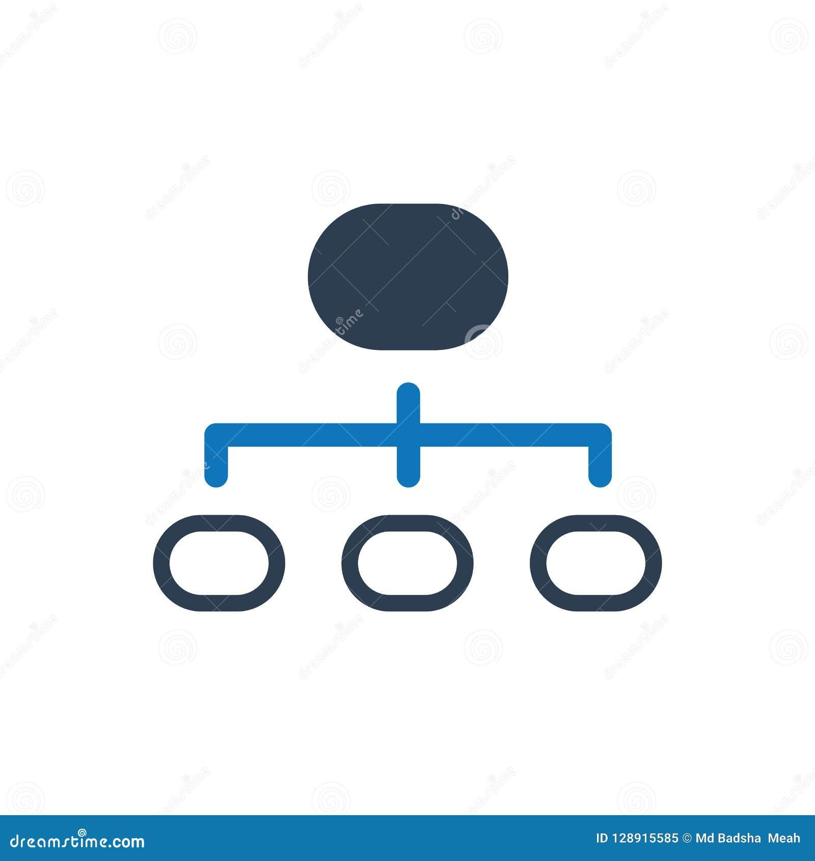 Hierarchie-Struktur-Ikone