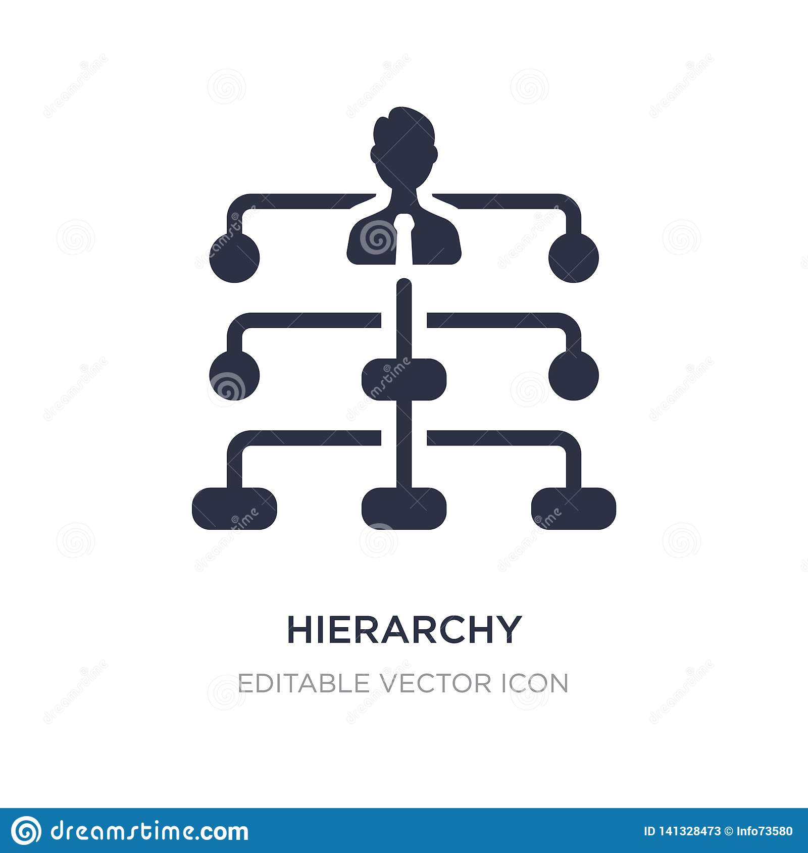 Hierarchii struktury ikona na białym tle Prosta element ilustracja od Biznesowego pojęcia