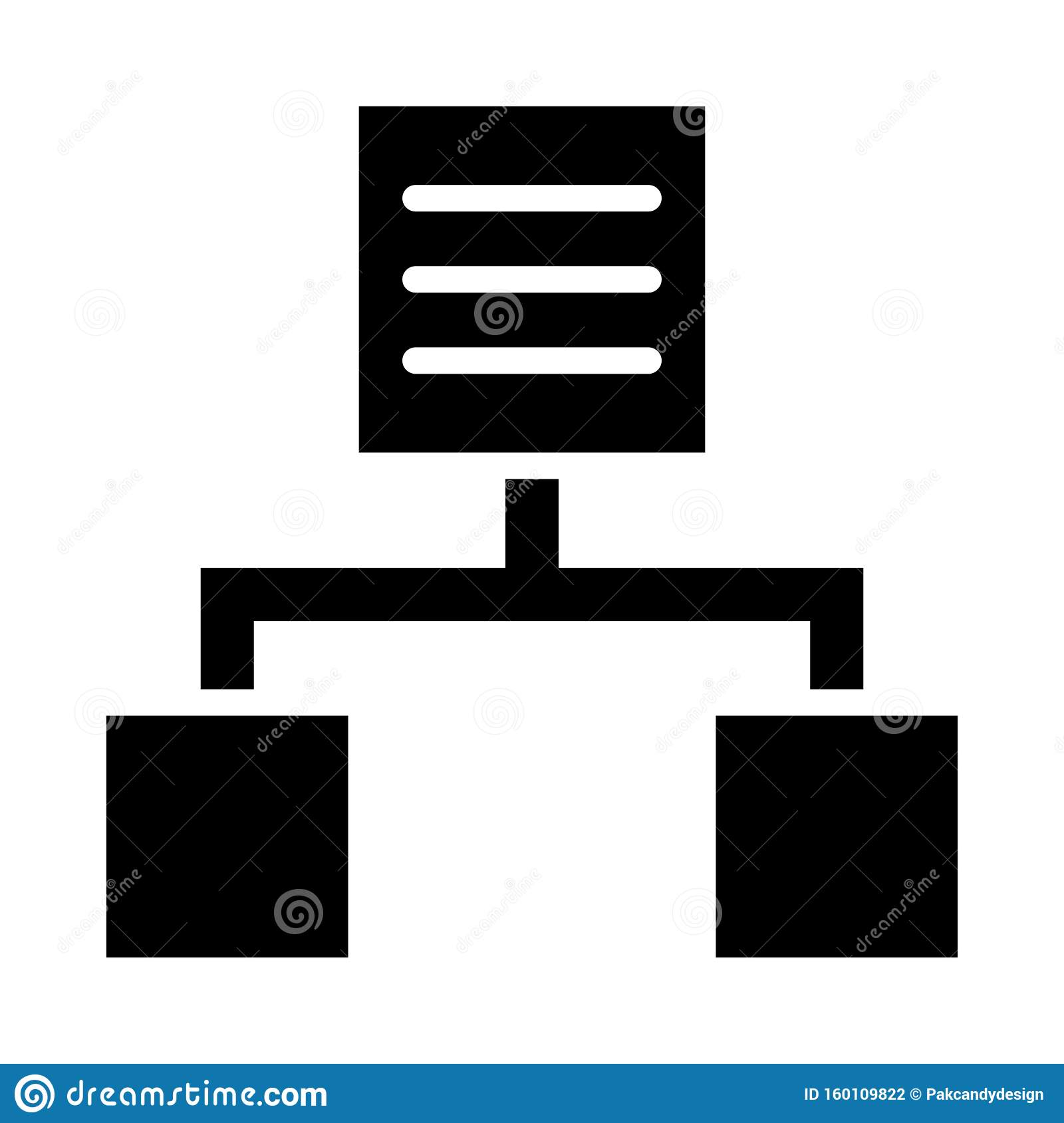 Hierarchy Glyph icon isolated Graphic . Style in EPS 10 simple glyph element business & office concept. editable vector.