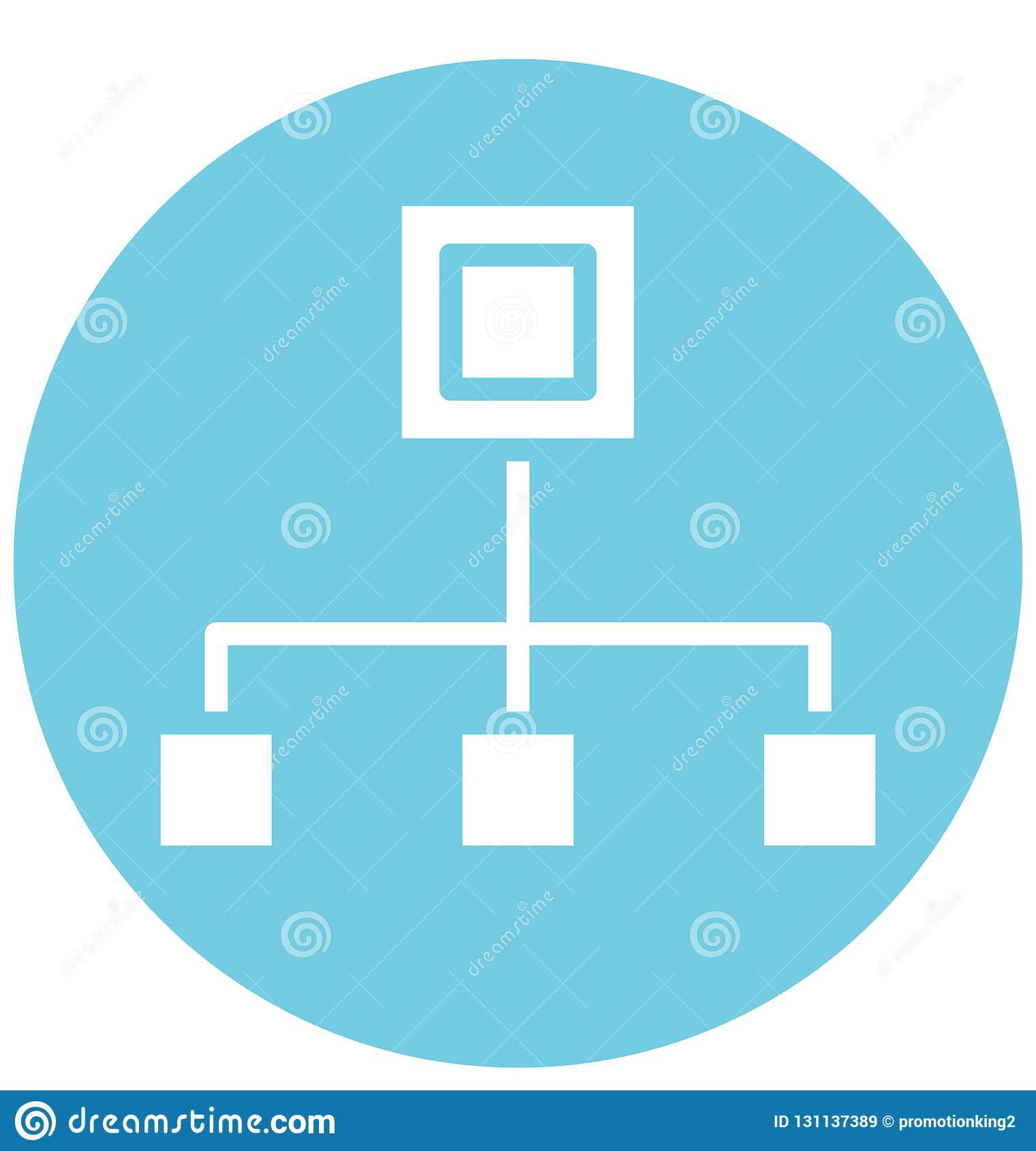 Hierarchy Isolated Vector Icon That can be easily Modified or Edited.