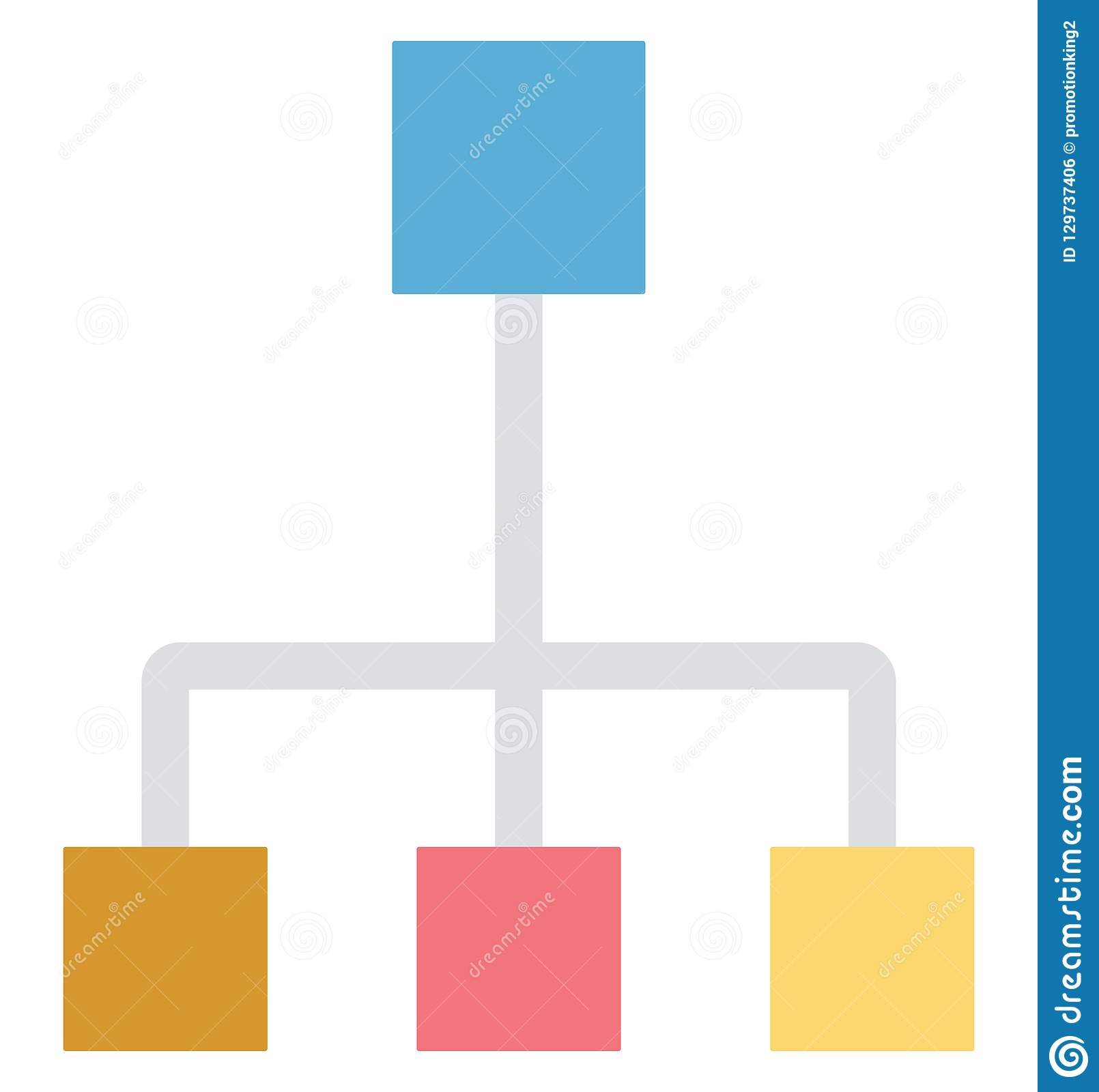 Hierarchy, network, Isolated Vector icons that can be easily modified or edit