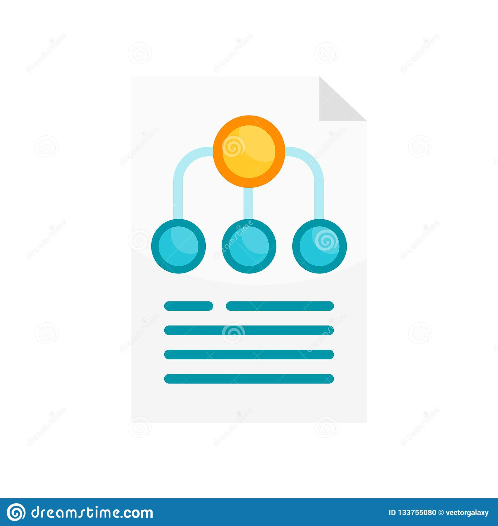 Hierarchy structure icon vector sign and symbol isolated on whit