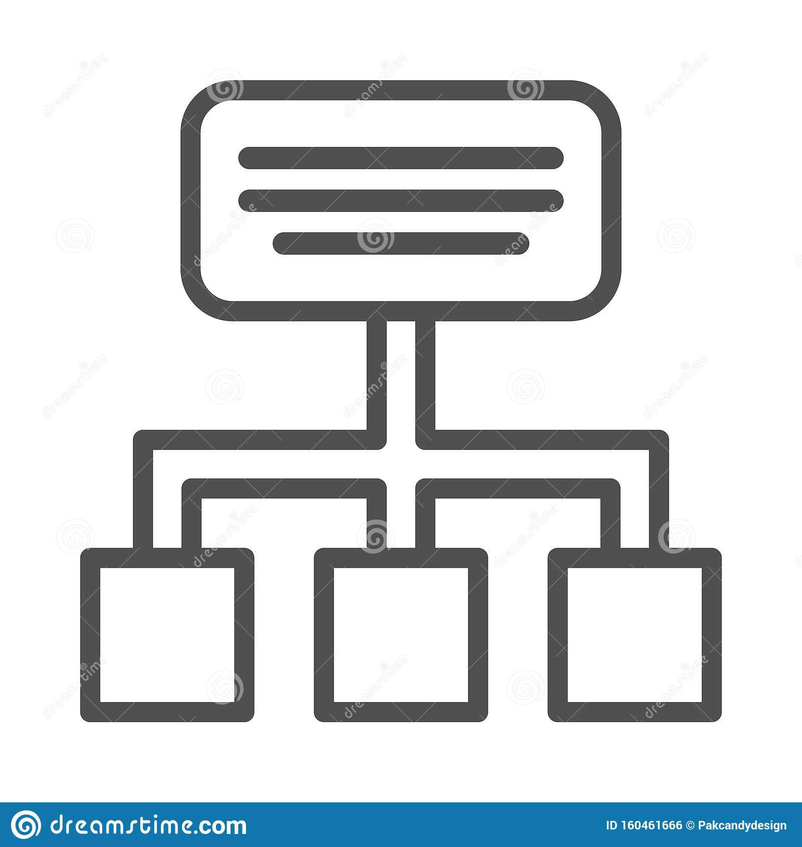 Hierarchy Vector Line icon isolated Graphic .Style in EPS 10 simple Line Icon element business & office concept. .