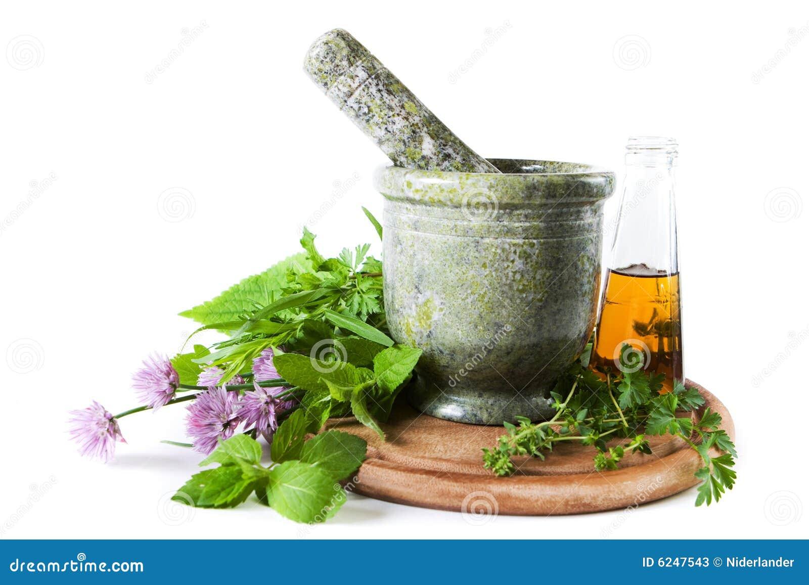 Different herbs royalty free stock image image 16265346 - Hierbas Con El Mortero Fotos De Archivo