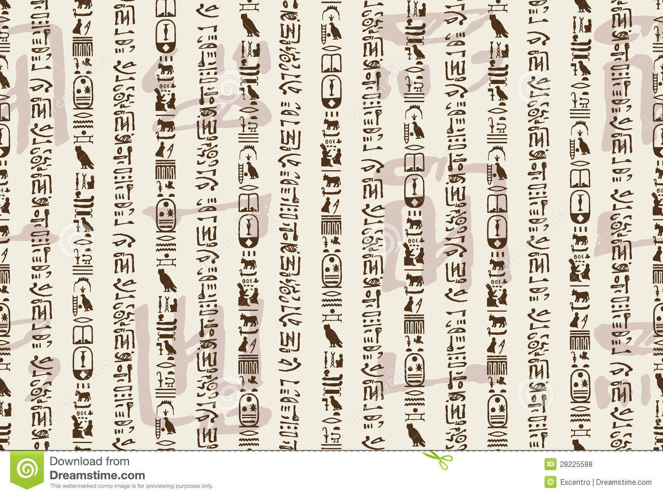 ... vector background created on base of the Hieroglyphic symbols