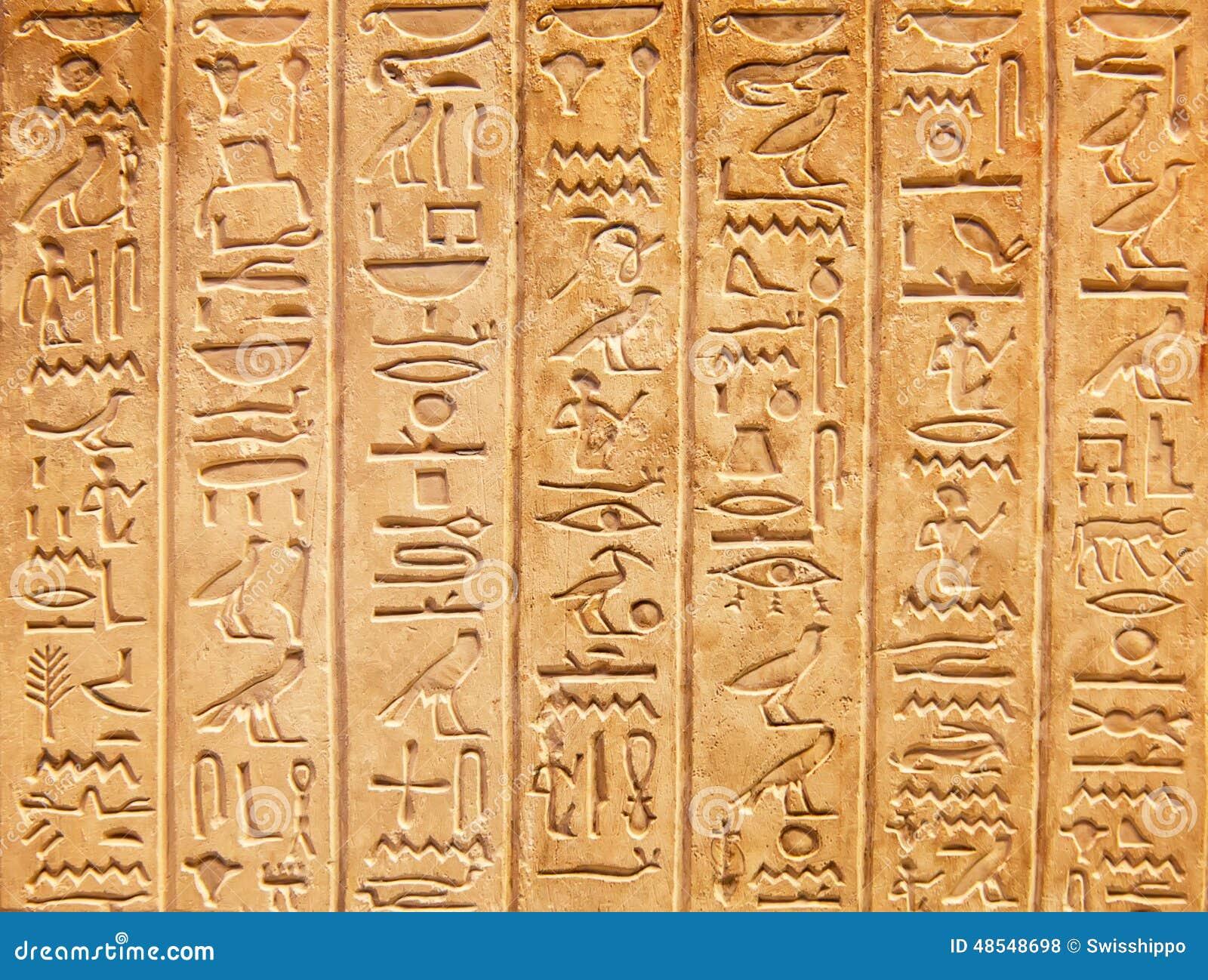 Hieroglyphs na parede