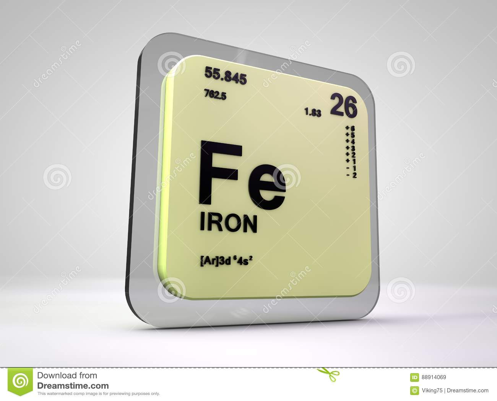 Hierro fe tabla peridica del elemento qumico stock de hierro fe tabla peridica del elemento qumico urtaz Images