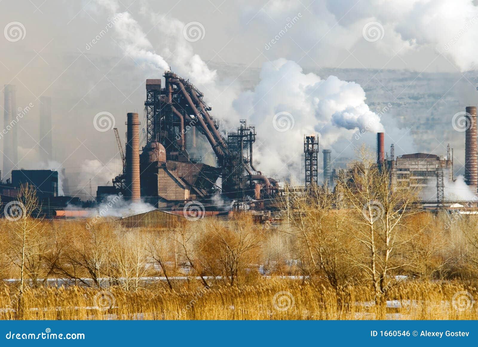 hierro y planta metal rgica de acero imagen de archivo