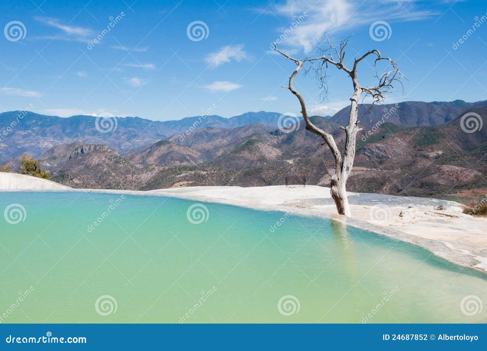 Hierve Gr Agua, de thermische lente, Oaxaca (Mexico)