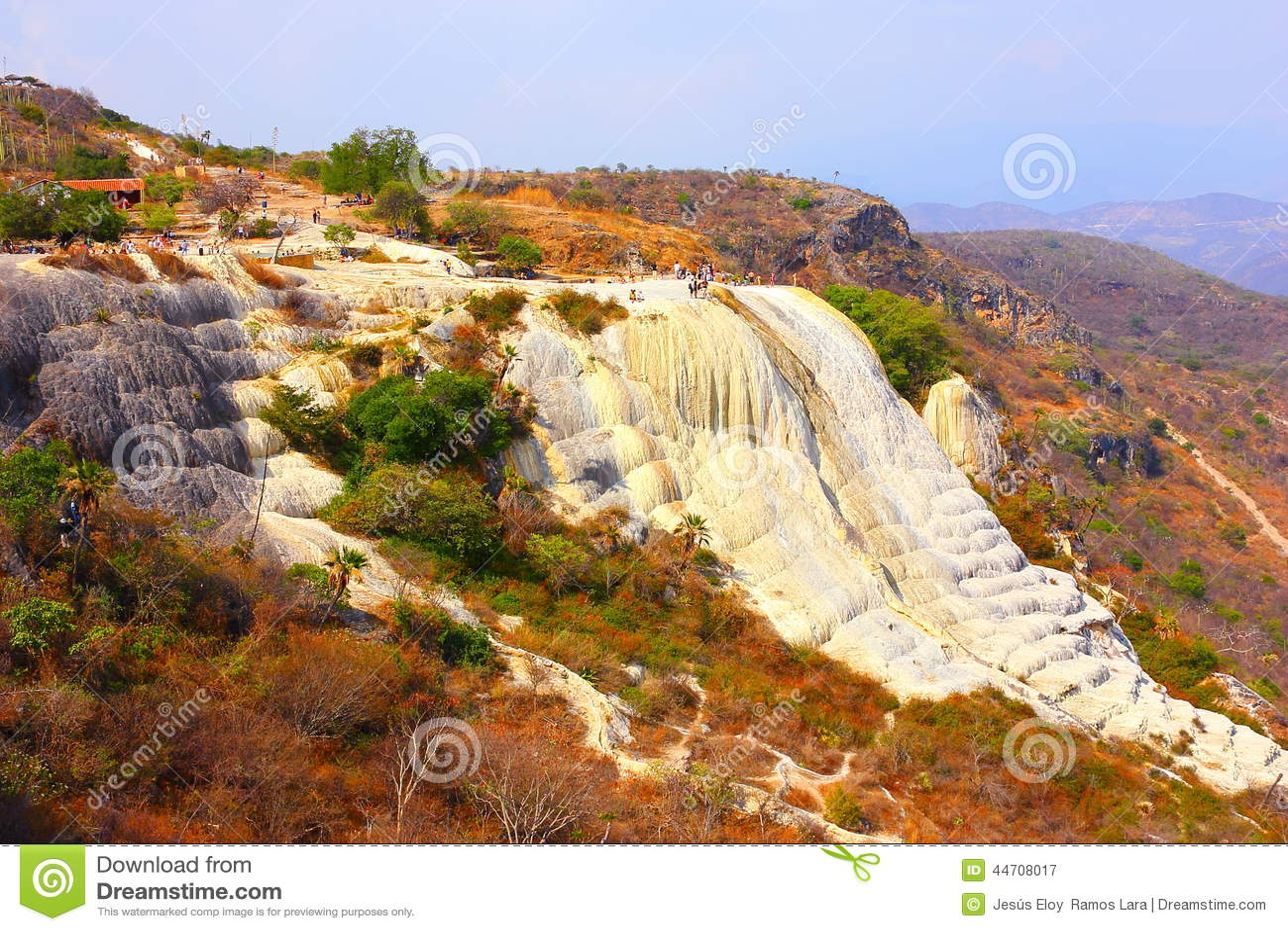 Hierve Gr Agua, Van angst verstijfde Waterval in Oaxaca IV