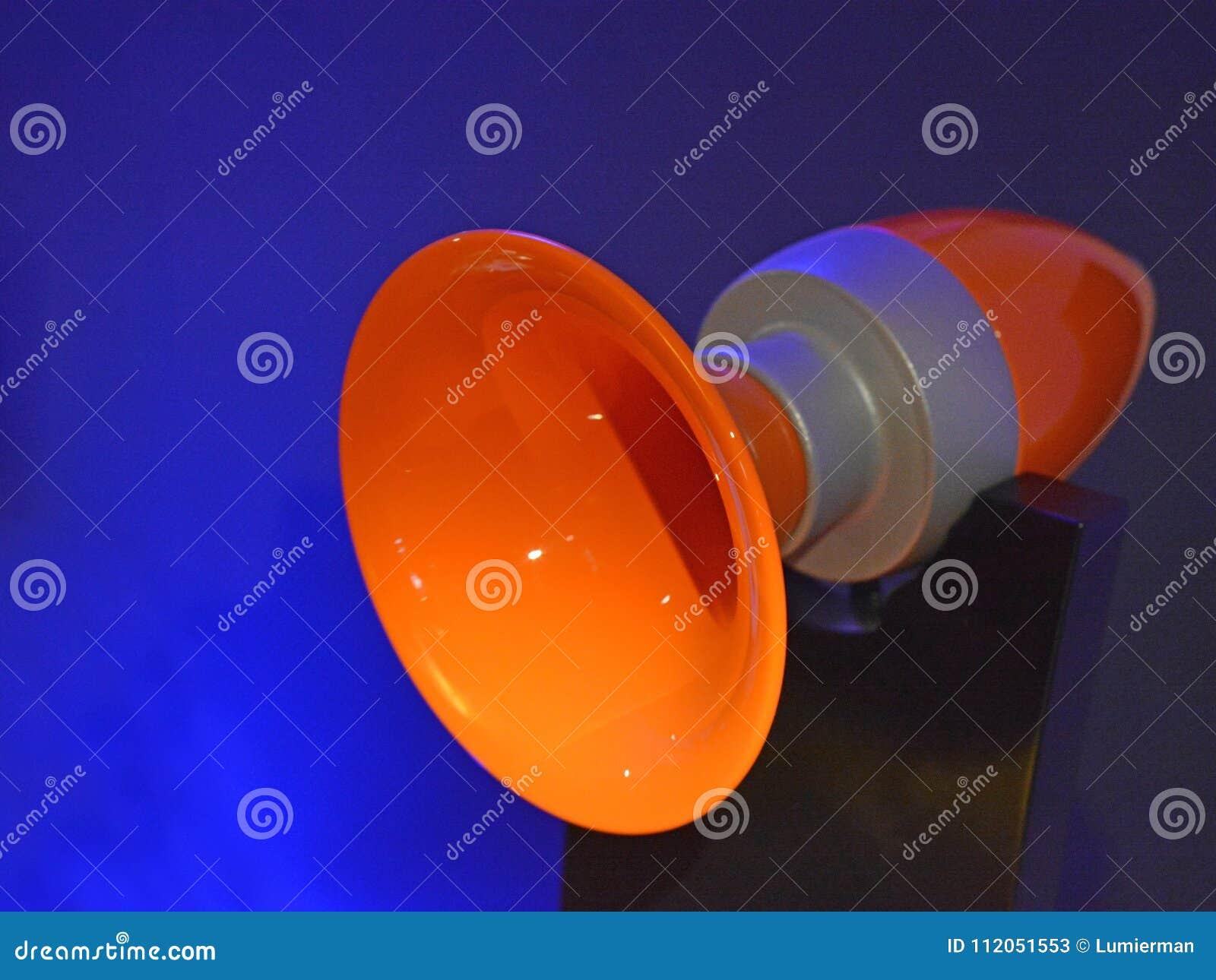 HiFi Retro Audio Horn Speakers Stock Image - Image of