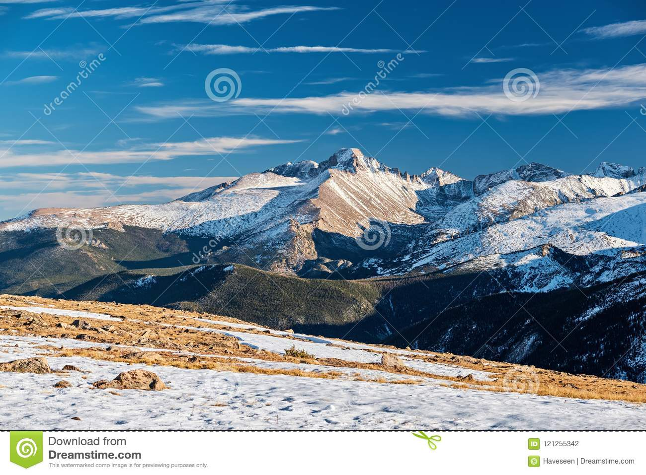 High alpine tundra landscape with mountains