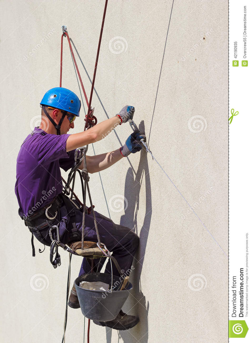 High Altitude Worker Stock Photo Image 42190935