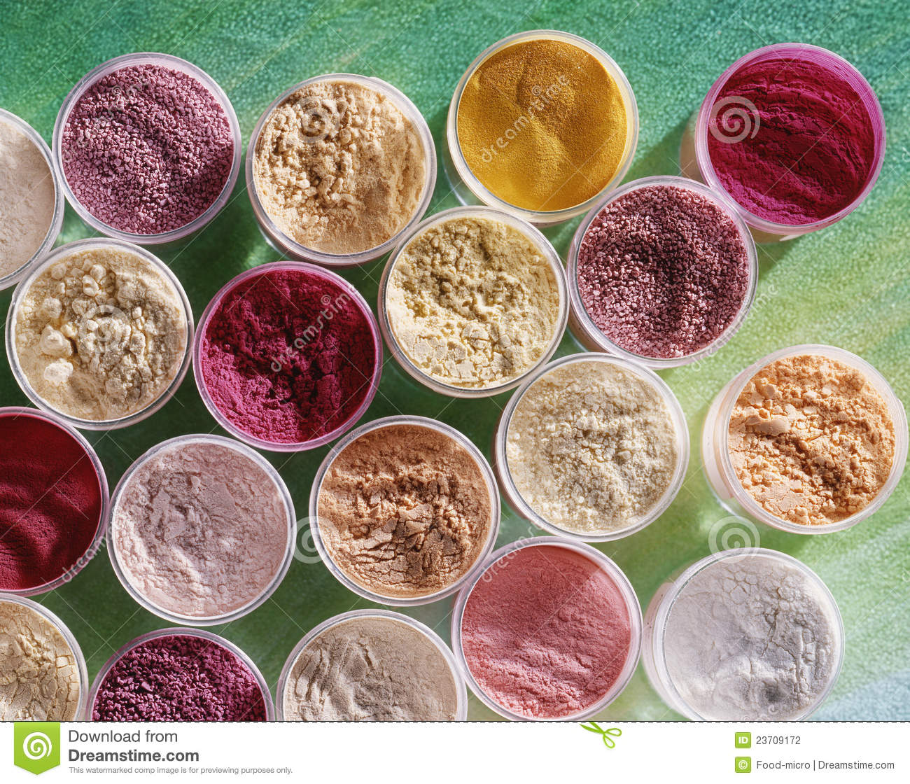 High-angle Shot Of Food Coloring Powders Stock Photo - Image of ...