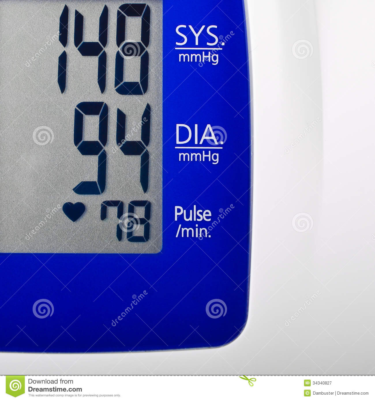 Stress Test Blood Pressure Readings: High Blood Pressure Royalty Free Stock Photography