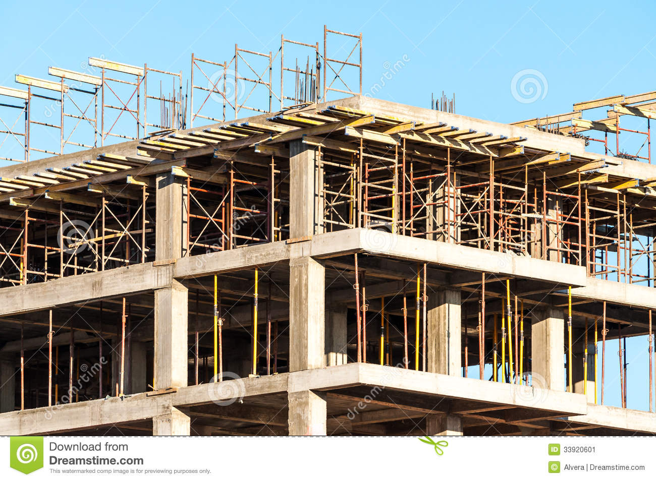 High Building Under Construction Stock Image Image Of